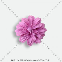 EMBEL 125 FABRIC FLOWER