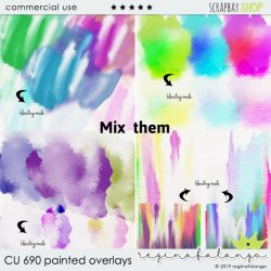 CU 690 PAINTED OVERLAYS: