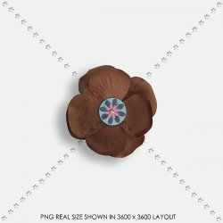 EMBEL 15 FABRIC FLOWER