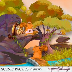 SCENIC PACK 23 SQUIRREL HOUSE