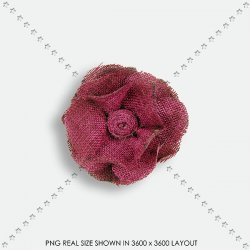 EMBEL 134 FABRIC FLOWER