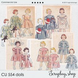 CU 554 DOLLS cards & stamps