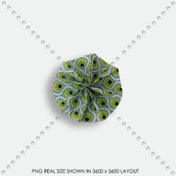 EMBEL 10 FABRIC ROSETTE