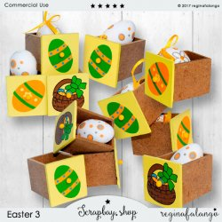 EASTER 3 EGG BOXES