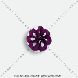 EMBEL 09 FABRIC ROSETTE