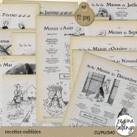 RECETTES OUBLIEES