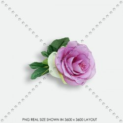 FLORAL 196 FABRIC PURPLE ROSE