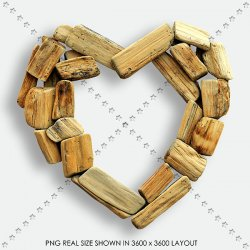 LOVE 45 WOOD HEART