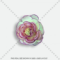 EMBEL 48 FABRIC FLOWER