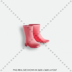 FALL 06 PINK RUBBER BOOT