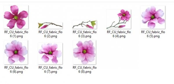 FABRIC FLOWERS 6 - Click Image to Close