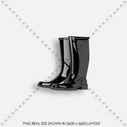 FALL 05 BLACK RUBBER BOOT