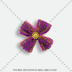 EMBEL 34 FABRIC FLOWER