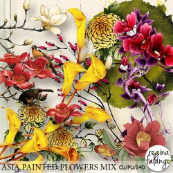 ASIA PAINTED FLOWERS