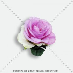 FLORAL 195 FABRIC PURPLE ROSE
