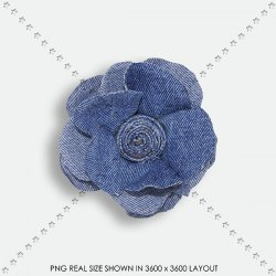 EMBEL 42 DENIM FLOWER