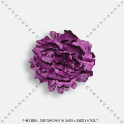FLORAL 141 FABRIC PURPLE