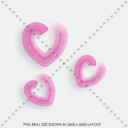 LOVE 107 PINK HEARTS