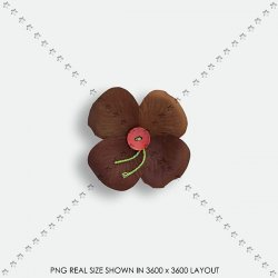EMBEL 16 FABRIC FLOWER