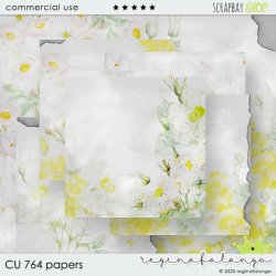 CU 764 PAPERS WHITE ROSES
