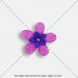 FLORAL 190 SCRAP FLOWER PURPLE