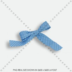 RIBBON DOT BLEU