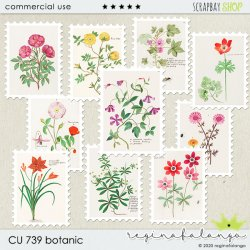 CU 739 BOTANIC post stamps