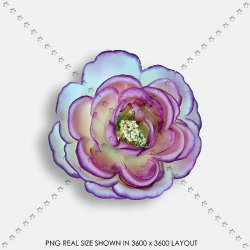 EMBEL 49 FABRIC FLOWER
