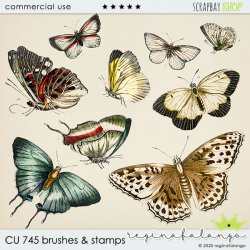 CU 745 BRUSHES & stamps