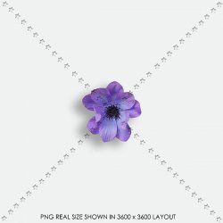 EMBEL 126 FABRIC FLOWER