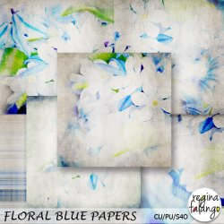 FLORAL BLUE PAPERS