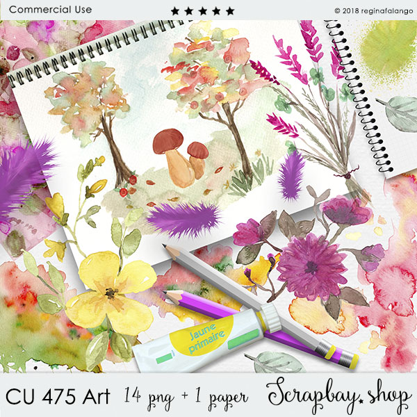 CU 475 ART WATERCOLOR SET
