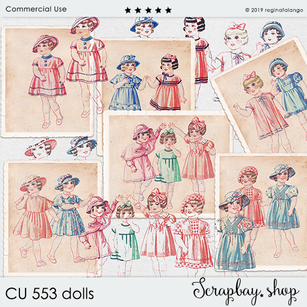 CU 553 DOLLS cards & stamps