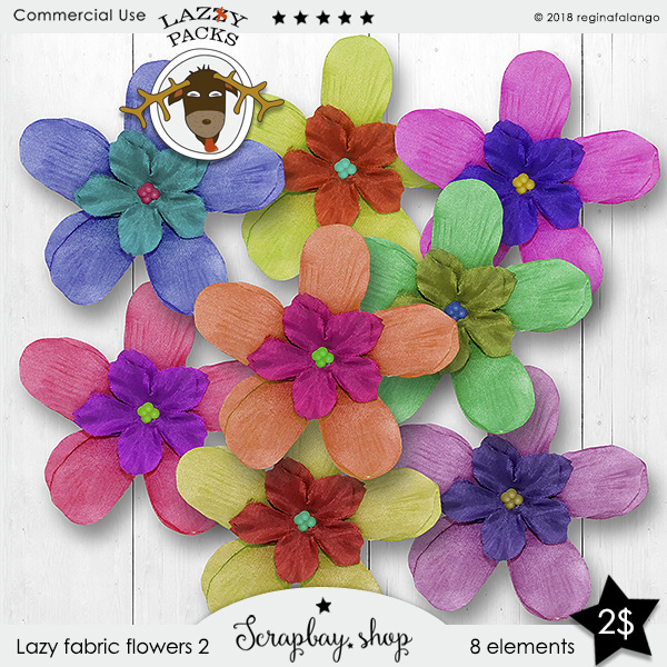 LAZY FABRIC FLOWERS 2