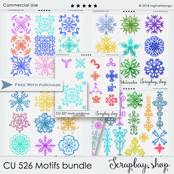 CU 526 MOTIFS WATERCOLOR BUNDLE