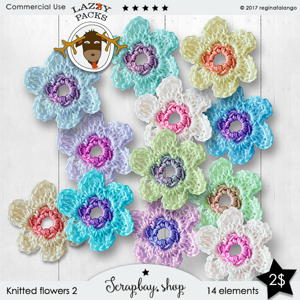LAZY KNITTED FLOWERS 2