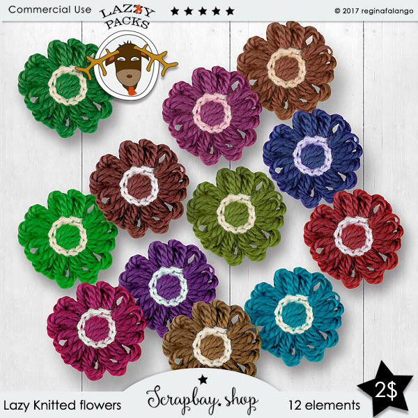 LAZY KNITTED FLOWERS