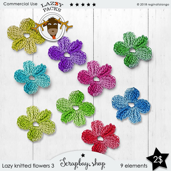 LAZY KNITTED FLOWERS 3
