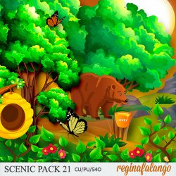 SCENIC PACK 21 Forest bear